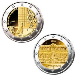 5 x 2 Euro Allemagne 2020 -...