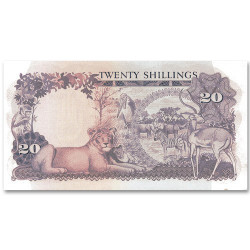 Billet 20 Shillings Ouganda...