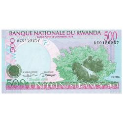 Billet 500 Francs Rwanda 1998