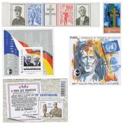 Lot de timbres de Gaulle