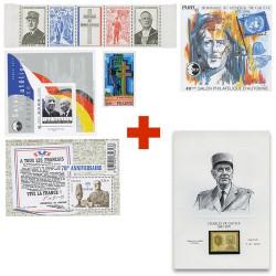 Lot de timbres + Vignette...