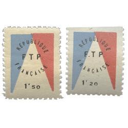 2 timbres Libération Evian