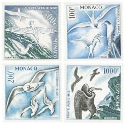 4 timbres Monaco oiseaux de...