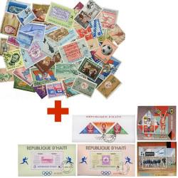 100 timbres + 5 blocs Haïti