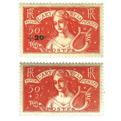 2 timbres 50 c.