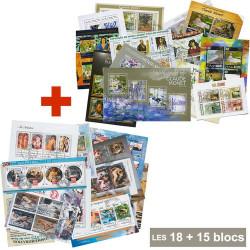 18 Blocs peintres français...