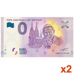 Lot de 2 billets Souvenir 0...