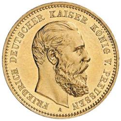 10 Marks Or  Allemagne 1888...