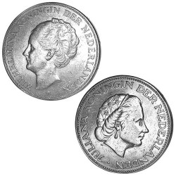 Lot des 2 x 2,5 Gulden...