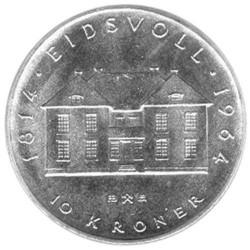 10 couronnes Argent Norvège...