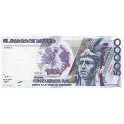 Billet 50 000 Pesos Mexique
