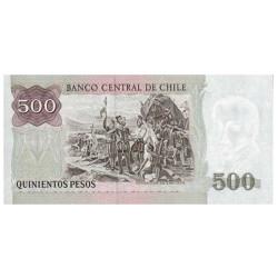 Billet 500 Pesos Chili