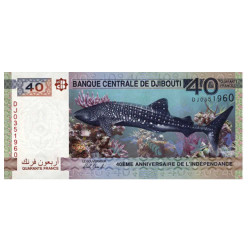 Billet 40 Francs Djibouti