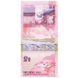 Billet 5 Dollars Bermudes 2009