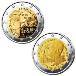 Lot des 2 x 2 Euro Vatican...