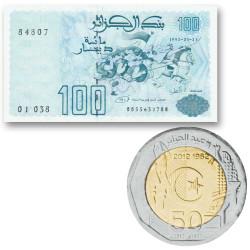 Lot de 100 et 200 Dinars...