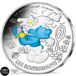 10 Euro colorisée Argent...