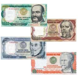 4 Billets Pérou 1981-1984