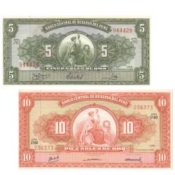 2 Billets Pérou 1962-1968