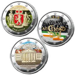 Lot des 3 x 2 Euro...