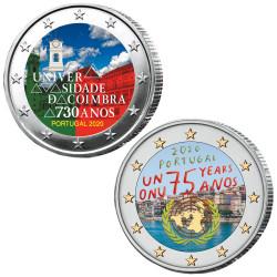Lot 2 x 2 Euro Portugal...
