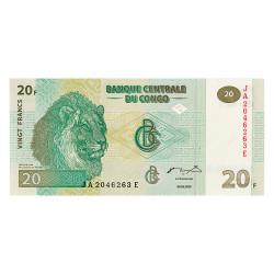 20 Francs Congo 2003