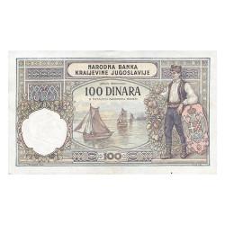 100 Dinars Yougoslavie 1929