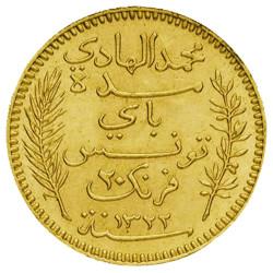 20 Francs Or Tunisie -...