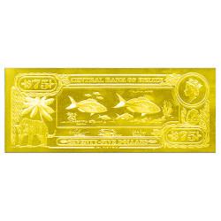 75 Dollars Or Belize 1984 -...