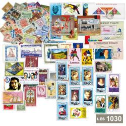 Les 1030 timbres du Monde