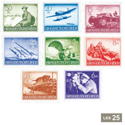 25 timbres IIIe  Reich 1943...