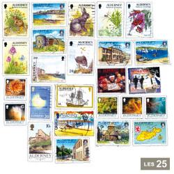 25 timbres Alderney