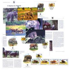 Lot Éléphant de Malaisie WWF