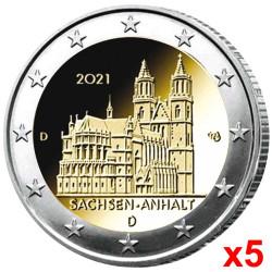 5 x 2 Euro Allemagne BU...