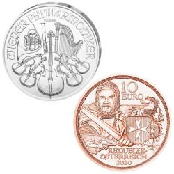 Lot des 2 Monnaies Autriche...