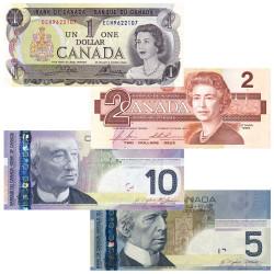 Lot de 4 Billets Canada...