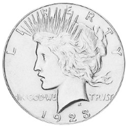 1 Peace Dollar Argent USA...