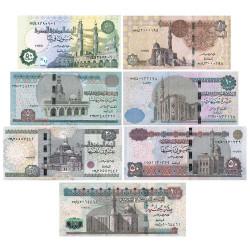 7 billets Égypte 2014-2018