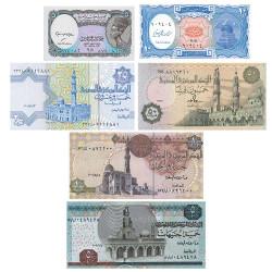 6 billets Égypte 1990-2008