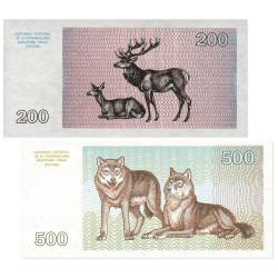 Lot de 2 billets Lituanie 1993