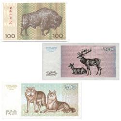 Lot des billets Lituanie