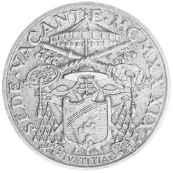 5 Lires Argent Vatican1939