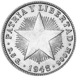 10 Centavos Argent Cuba...