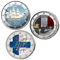 Lot 3 x 2 Euro 2020 colorisées