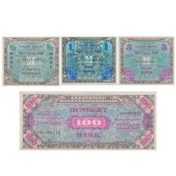 Lot 2 Billets Allemagne 1944