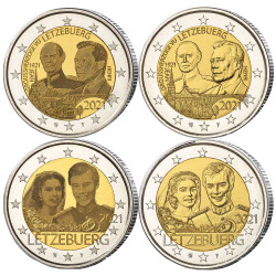 Lot 4 x 2 Euro Luxembourg 2021