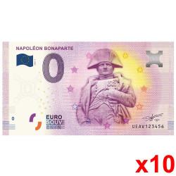 Lot 10 Billets Souvenir 0...