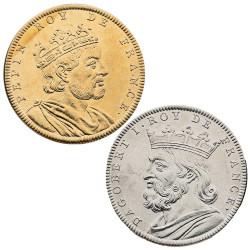 Lot 2 médailles Roi de France