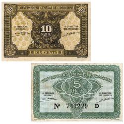 Lot 2 billets Indochine...