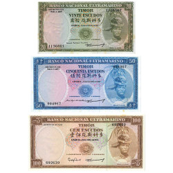 Lot 3 billets Timor Portugais